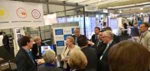 Visite sur le stand TREMPLIN de l'eurodéputée Mme TRAUTMANN